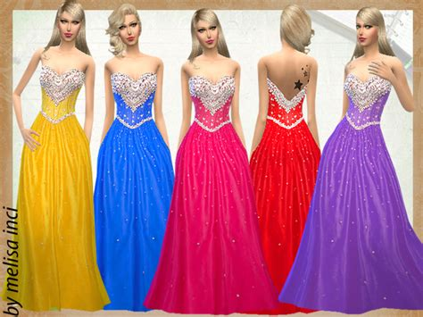ball gown sims 4 crystal beading on ball gown by melisa inci at tsr 187 sims