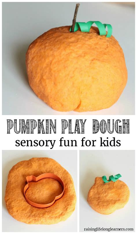easy pumpkin play dough recipe scented sensory play