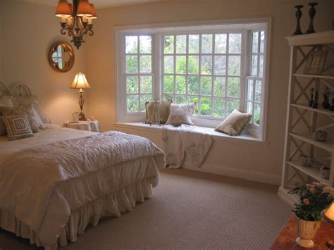 Bedroom Windows Decorating Master Bedroom Bay Window And Sisal Look Carpet Mediterranean Bedroom Los Angeles By