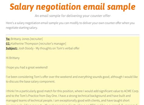 Offer Letter Negotiation Email How To Improve Your Salary Negotiation Skills Careercloud