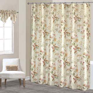 standing shower curtain united curtain company quot chantelle quot creamy floral printed