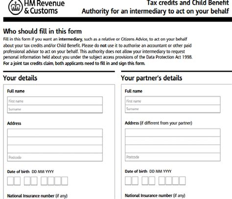 Tax Credit Form Of Authority Tax Credits Authorization Form Sle Forms