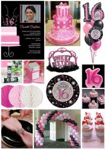 Inspiration board pretty in pink sweet 16 tiny prints blog