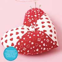 pattern for heart pincushion cross your heart february march 2009 issue sew news