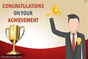 congratulations on your achievement