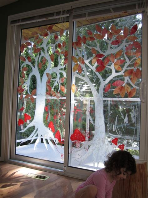 herbstdeko fenster kindergarten herbstdeko fenster im kindergarten raum und m 246 beldesign