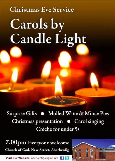 Carols By Candle Light Church Of God In Aberkenfig Carols Light