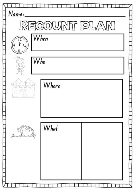 writing planner template recount plan freebie kindergartenklub