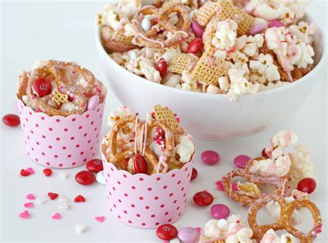 valentines day snacks valentine s snack mix glorious treats