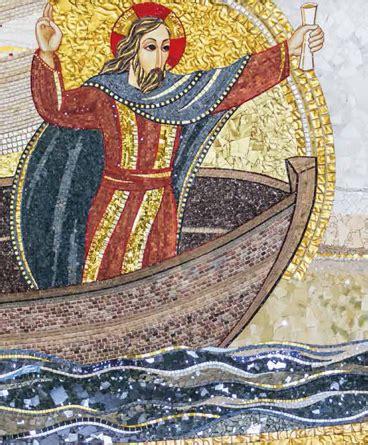 la tempesta sedata medita con i mosaici evangeliario giubileo