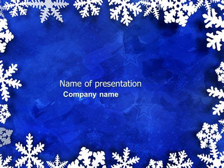 Winter Theme Presentation Template For Powerpoint And Keynote Ppt Star Free Winter Powerpoint Backgrounds