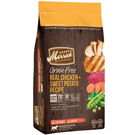 merrick grain free puppy food merrick grain free real chicken and sweet potato food 4 lbs entirelypets