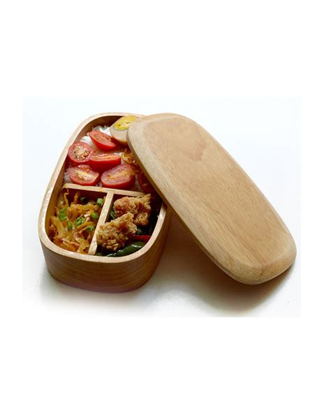Divided Lunch Box wooden lunch box with lid divided tray happybird
