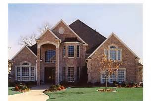 New American Home Plans Grand Brick Home Hwbdo57137 New American From Builderhouseplans