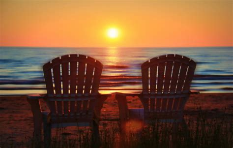 Slipcovers For Dining Room Chairs beach chairs sunset
