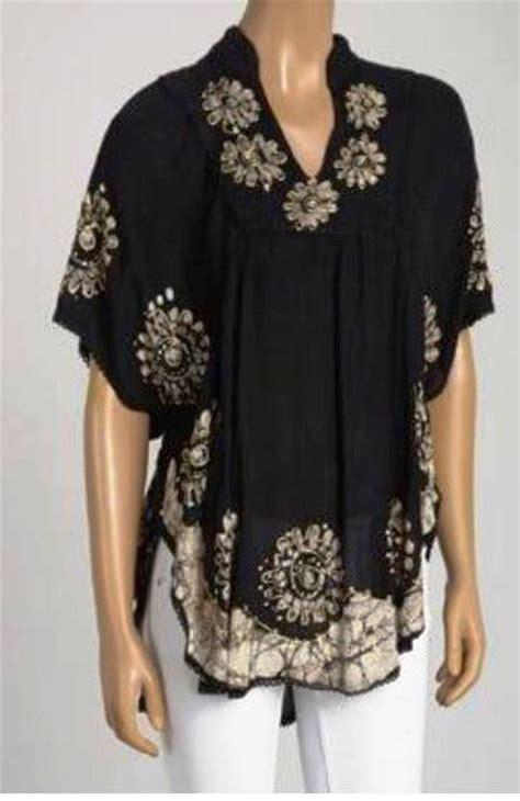 Tunic Angsa By Batik 29 plus size tunic 1x 2x 3x 4x 5x one size black purple white