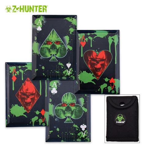 throwing knife cards z slayer throwing card set with sheath
