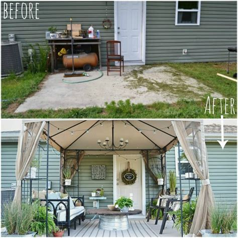 backyard makeover before and after before and after a stylish and thrifty back patio