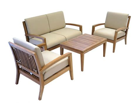 4 Piece Patio Furniture Sets Archives Best Patio Teak Patio Furniture Sets