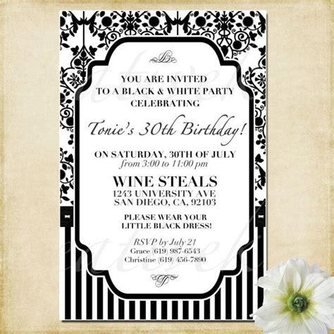 black and white birthday invitations wording customizable black and white invitation digital