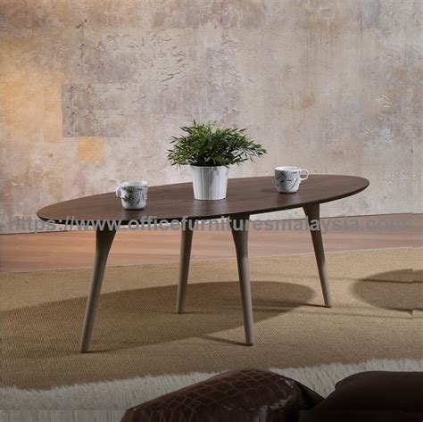 Coffee Table Meja Teh Meja Minimalis solid wood oval coffee table kopi meja murah malaysia