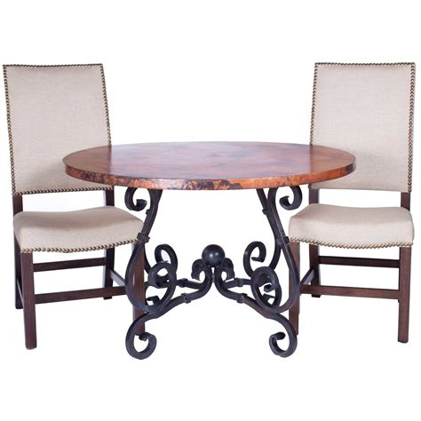 french oval dining table with hammered copper for sale at twi pm m5 f 500a 8 jpg