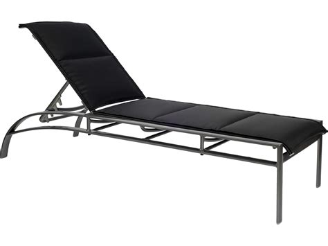 sling aluminum chaise lounge woodard metropolis padded sling aluminum stackable