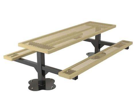 8 Ft Plastic Table by 8 Ft Regal Style Thermoplastic Coated Expanded Metal