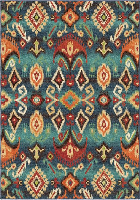 Bright Aztec Rug by Spoleto Bright Color Southwest Aztec Multi Medium