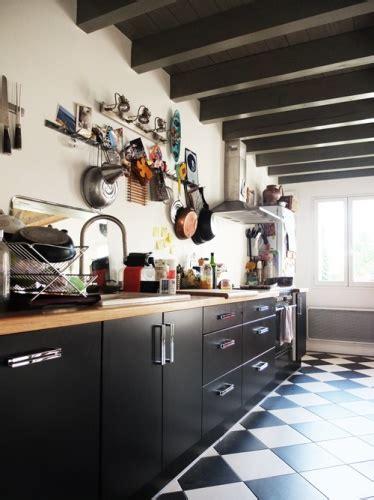 carrelage damier noir et blanc cuisine cuisine damier noir et blanc
