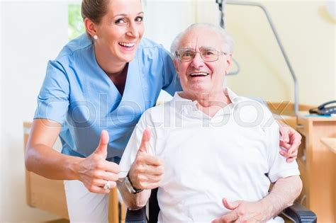 senior and age recommending nursing home stock