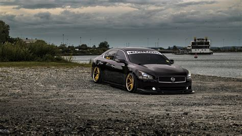stanced nissan maxima slammed maxima stance