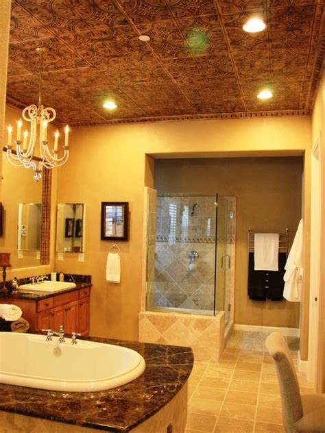 Tin Ceiling In Bathroom by 1000 Images About Tin Tiles On Tin Ceiling
