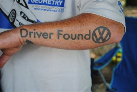 volkswagen tattoo vw on arm i so vw s
