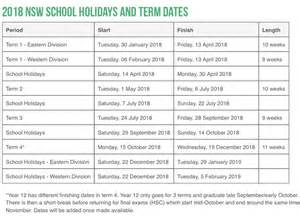 Calendar 2018 School Holidays School Holidays And School Term Dates For All Schools In