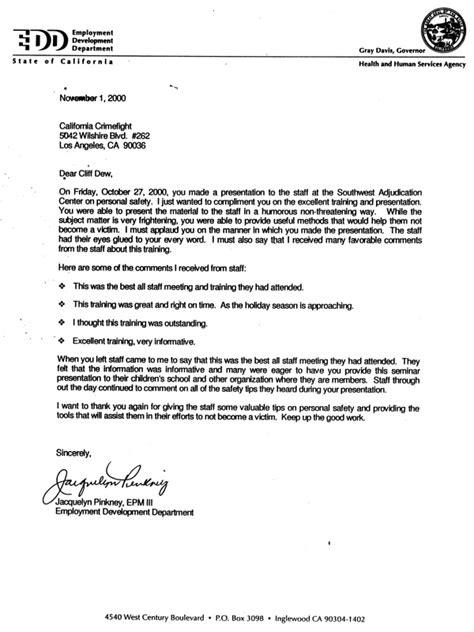 Unemployment Insurance Program Letters California Crimefight E D D Letter