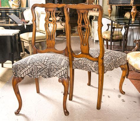 queen anne dining room furniture set of ten queen anne styled dining chairs for sale at 1stdibs