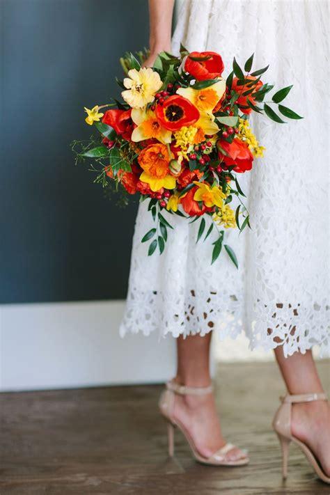 Wedding Bouquet Utah by Sun Kissed Bright Wedding Flowers Utah Calie Daffodil
