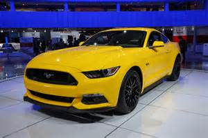 bangshift 2015 mustang and 2015 ford f150 at naias