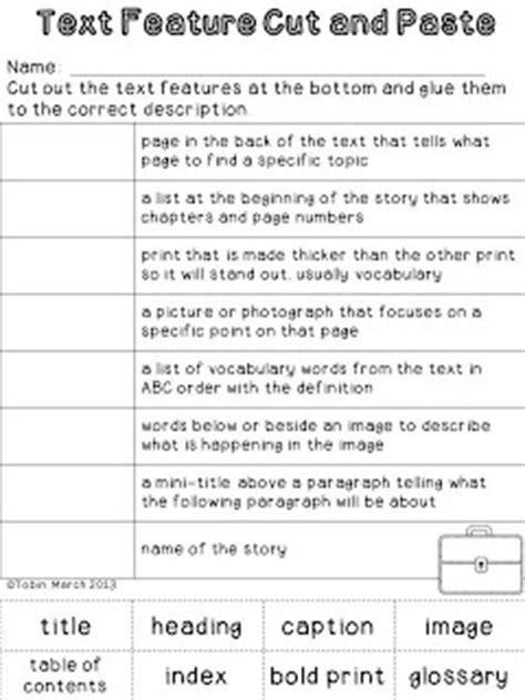 Text Features Practice Worksheets by 25 Best Ideas About Text Features Worksheet On