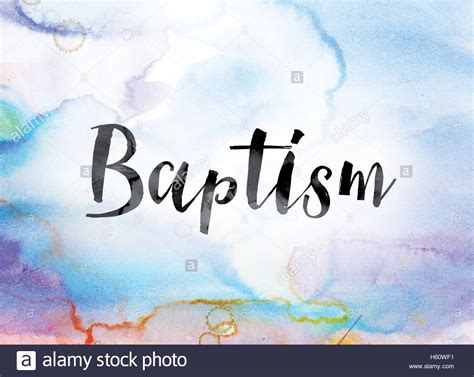 another word for colorful the word quot baptism quot painted in black ink a colorful