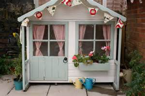 Playhouse Windows And Doors Ideas Tales From A Happy House A Garden Playhouse Makeover