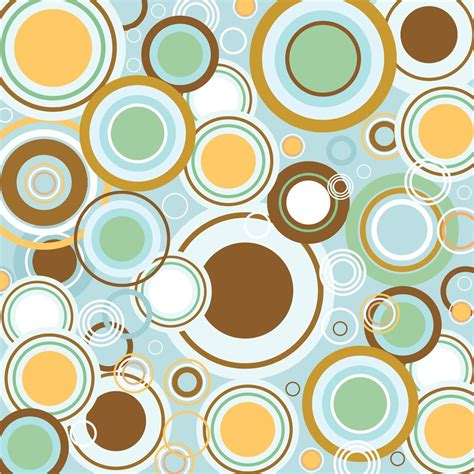 pattern retro vector retro circles vector pattern vector art graphics
