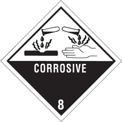 Printable Corrosive Label | 4 x 4 quot quot corrosive 8 quot labels