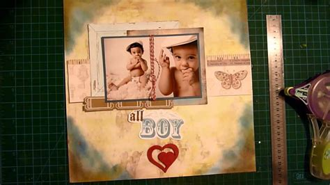 layout youtube game boy scrapbook layout process all boy youtube