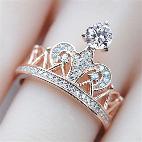 Anting Rhinestone Swan Princess Gold Plated vancaro princess crown ring with 925 sterling silver gold plated