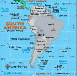south america map with capitals south america capital cities map map of south america