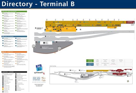 san jose international terminal map san jose airport terminal b map
