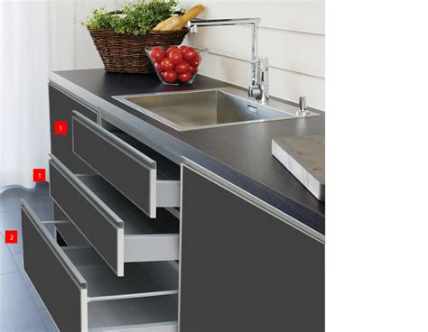 Closing Drawers by Kitchen Accessories Solution Aluminum Door Bifold