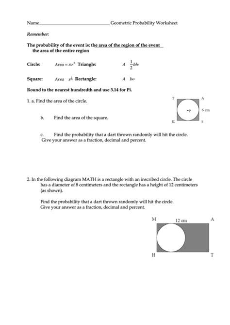 Geometric Worksheet Pdf